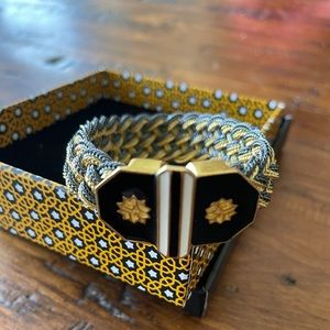 Hand made gold plated Braid bracelet duo